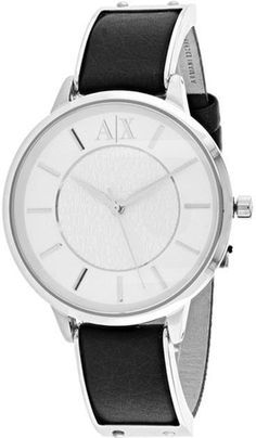 Armani Exchange Olivia Collection AX5309 Women's Leather Strap Watch by Armani Exchange  Stainless steel case Leather strap Silver dial Quartz movement Scratch resistant mineral Water resistant up to 5 ATM - 50 meters - 165 feet  Brand Name - Armani Exchange  Collection - Olivia  Model Number - AX5309  Product Type - Watch  Type - Analog  Band Type - Strap  Band Width - 16 mm  Case Material - Stainless Steel  Case Depth - 7 mm  Case Shape - Round  Clasp Type - Buckle  Crown Type - Push/Pull…