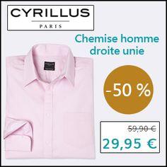 #missbonreduction; Economisez 50 % sur la Chemise homme droite unie chez Cyrillus. http://www.miss-bon-reduction.fr//details-bon-reduction-Cyrillus-i228-c1829099.html