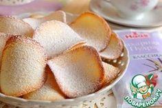 """Печенье """"Тюиль"""" Сахар — 120 г Белок яичный — 3 шт Желток яичный — 1 шт Масло сливочное — 30 г Мука пшеничная — 50 г Соль — 1 щепот. Миндаль — 60 г"""