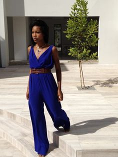 Dreaming of summer- blue jumpsuit from Anya Ayoung-Chee- at $198, an affordable all summer outfit!