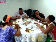 Compartiendo en la hora del almuerzo