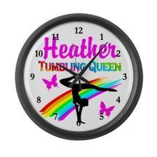 SUPER STAR GYMNAST Large Wall Clock http://www.cafepress.com/sportsstar/10114301  #Gymnastics #Gymnast #IloveGymnastics #Gymnastgifts #WomensGymnastics #Gymnastcalendar #PersonalizedGymnastics #Gymnastinspiration