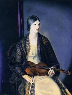 """The Violinist Leila Kalman"" (1924)  by George Wesley Bellows"