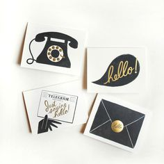Foil Hello Card 8 Pack