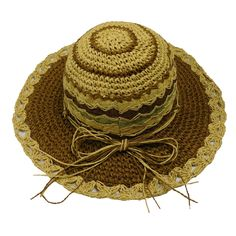 Brown Crochet Toyo Sun Hat