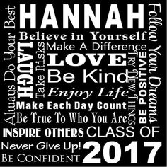 Custom Name Graduation Class of 2017 Party Banner, Decor, High School, Graduation, Personalized Name,