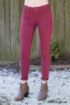 Denim Days Skinny Jeans - Wine Our Denim Days skinny jeans are from the  denim brand 52a275f55