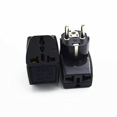 2PCS Schuko Germany France Korea Travel Adapter Power Plug 1 Convert 3  Function socket. Yesterday's price: US $12.14 (10.57 EUR). Today's price: US $12.14 (10.65 EUR). Discount: 19%.