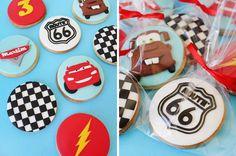 Souvenir Cookies_Cars Third Birthday, Boy Birthday Parties, Race Car Themes, Car Cookies, Disney Cars Birthday, Mc Queen, Ideas Para Fiestas, Fondant, Birthdays