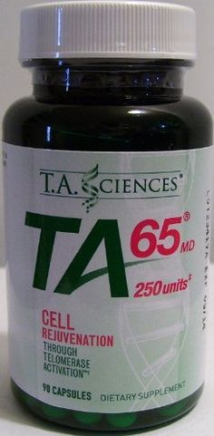 TA-65, 90 capsules - 250 units by TA-65/T.A. Sciences. $600.00. Telomerase Activation with TA-65® Telomerase Activation works on targeted cells in your body and can improve not only cell longevity but quality of life. A double-blind, placebo controlled study of TA-65® showed improvements in:  immune system vision male sexual performance skin appearance and more.