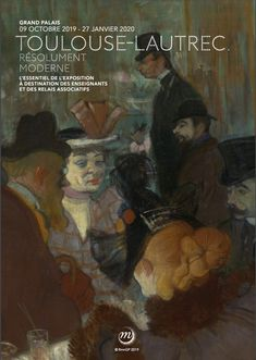 The Paris art museum - The Grand Palais will be hosting a Toulouse-Lautrec exhibition from 9 October 2019 until the 27 January This is a must for all impressionism fans and lovers of art! Paris Kunst, Paris Art, Henri De Toulouse Lautrec, Caricatures, Museum Of Modern Art, Art Museum, Art Parisien, Impressionist Art, Expositions