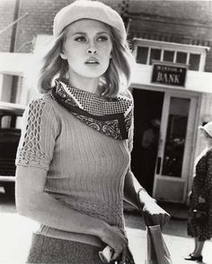 "Faye Dunaway: Dorothy Faye Dunaway (born January 14, 1941) in ""Bonnie & Clyde"", 1967."
