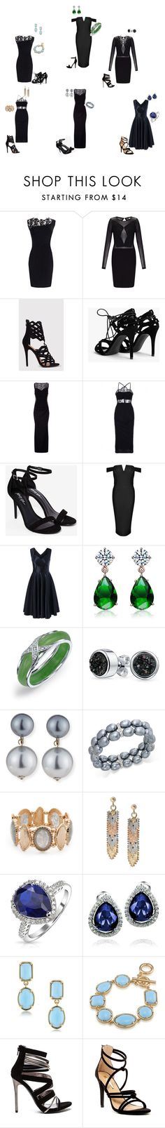 """Little black dress!"" by o-correacaines on Polyvore featuring Miss Selfridge, Boohoo, Collette Z, Bling Jewelry, Kenneth Jay Lane, Charter Club, Ruby Rd., Mondevio, West Coast Jewelry and 1st & Gorgeous by Carolee"