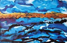 Vera creates colourful modern abstract landscapes, seascapes and floral paintings as well as geometric abstract paintings. Recently, Vera has started incorporating gold leaf into her mixed media paintings. Find out more at www.veraveraonthewall.com. #art #painting #artist #fineart #acrylicpainting #artwork #london #londonart #londonartist #interiordesign #originalart #originalartwork #londonartwork #artwork #originalpainting #blue #seascape #uniqueart #homedecor #wallart #interiors