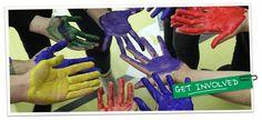 B.C. 4-H - British Columbia rainbow hands for double celery scoop