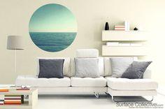 Circular ocean picture