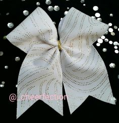 49b908129c Gold Sparkled Cheer Bow by CHEERFECTION on Etsy College Cheer