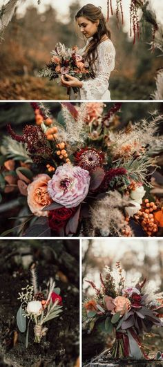Boho Hochzeit: 40 Inspirationen zum Verlieben - Boho Hochzeit zum Verlieben Boho clothing, jewelry in addition to bags possess rocked the style world. Boho continues to be immensely well-known both with celebrities and with wider public alike. Boho Flowers, Fall Wedding Flowers, Floral Wedding, Wedding Colors, Wedding Bouquets, Bohemian Wedding Flowers, Wedding Dresses, Edgy Wedding, Perfect Wedding