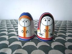 Vintage Arabia Salt & Pepper Shaker Set Eskimo by yokohiyoko, $135.00