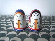 Vintage Arabia Salt & Pepper Shaker Set Eskimo by yokohiyoko, $135.00