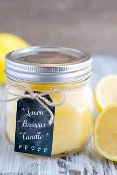 DIY Lemon Beeswax Candle - A Pumpkin And A Princess