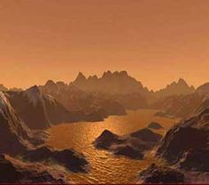Artist's impression of a landscape on Titan