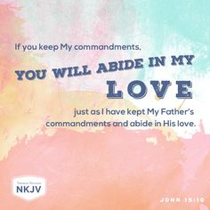 NKJV Verse of the Day: John 15:10
