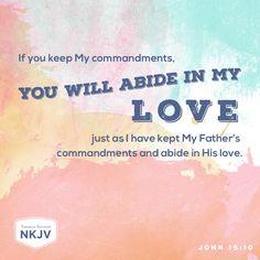NKJV Verse of the Day: John 15:10