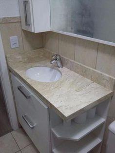 Móveis de marcenaria Bathroom Cupboards, Corner Shelves, Bedroom Styles, Bed Furniture, Basin, Master Bathroom, Interior Decorating, Bedroom Decor, Fajardo