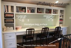 Compact Study Room Designs To Help Your Kids Study. Study Room For Teenager Study Rooms, Study Areas, Study Room Kids, Kids Rooms, Kids Study Spaces, Study Room Design, Boy Rooms, Kid Spaces, Small Spaces