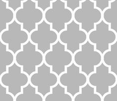 THIS MIGHT LOOK GREAT AS A BACKDROP INSIDE SHELVES....Cashmere Quatrefoil fabric by sparrowsong on Spoonflower - custom fabric