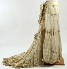 1870s Petticoat (with bustle pad? - would love to see the back view)