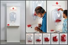"""Red Cross Society: """"Red Cross Society: : Blood Bag"""" Ambient Advert by DDB Mudra Group Mumbai Street Marketing, Marketing Verde, Guerilla Marketing, Blood Donation Posters, Don Du Sang, Red Cross Society, Iphone Wallpaper Sky, Corporate Event Design, Blood Drive"""