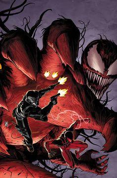 Scarlet Spider-Man and Venom vs Carnage by Declan Shalvey
