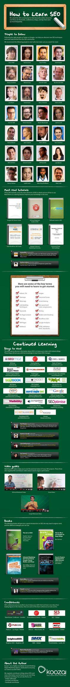 how to learn SEO / 94 maneras sencillas de aprender SEO #infografia #infographic #seo