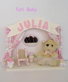 Quadro 'Ursinha bailarina', para enfeitar o quarto do seu bebê. :)