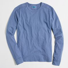 Factory long-sleeve textured cotton tee : Gifts for Men | J.Crew Factory