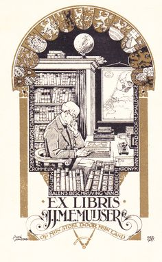 Ex Libris by André Vlaanderen Monochromatic Art, Blair Witch, Dutch Artists, Bookstores, Art Forms, Libra, Creative Design, Art Nouveau, Fairy Tales