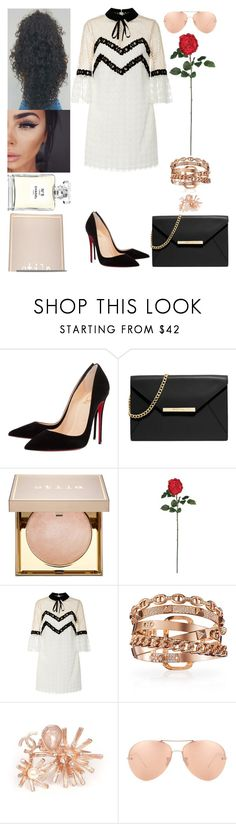 """Summer Time Ball: June 4"" by allison-syko ❤ liked on Polyvore featuring Christian Louboutin, MICHAEL Michael Kors, Stila, Nearly Natural, Nina Ricci, Chanel and Linda Farrow"