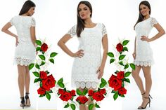 Short Sleeve Dresses, Dresses With Sleeves, White Dress, Fashion, Moda, Gowns With Sleeves, Fashion Styles, Fasion