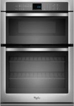 "WHIRLPOOL 30"" Single Electric Wall Oven with Built-In Microwave: Electronic controls; AccuBake temperature management system; Sabbath mode; delay-cook option; hidden bake element; keep-warm function"