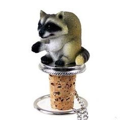 Wine Stoppers - Conversation Concepts Raccoon Bottle Stopper *** Be sure to check out this awesome product.