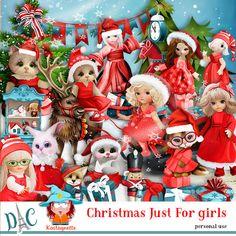 Christmas just for girls by Kastagnette Christmas just for girls [kastagnette_ChristmasJustForGirl] - Teddy Bear, Toys, Girls, Christmas, Animals, Plush Rocking Horse, Snowman, Activity Toys, Toddler Girls