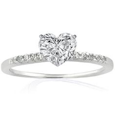 my perfect engagement ring simple with a little bit of heart