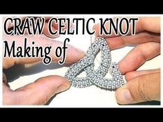 CRAW beaded Celtic Knot making of - Cubic Right Angle Weave Celtic Knot . Bead Jewellery, Seed Bead Jewelry, Jewelry Making Tutorials, Beading Tutorials, Beaded Jewelry Patterns, Beading Patterns, Right Angle Weave, Peyote Beading, Celtic Knot