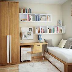 Cute and practical design for a small room. #smallspace #smallspaces #child…