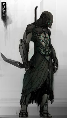 Apex Predator, Shane Walters on ArtStation. Arte Ninja, Arte Robot, Robot Art, Fantasy Anime, Fantasy Art, Character Concept, Character Art, Futuristic Armour, Armor Concept