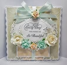 handmade cards using floral oval dies - Google Search