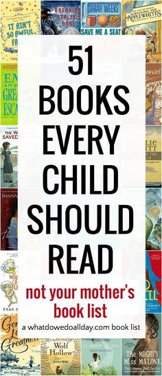 Best chapter books for kids to read before they grow up!