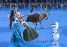 """""""So I was re-watching frozen, for the 100th time and noticed something new... My eyes have always been on Elsa and Anna in this scene, but if you pay attention to Kristoff you can see being the dork he is... he keeps starring at Anna until he ends up failing over Sven! I thought it was hilarious."""""""
